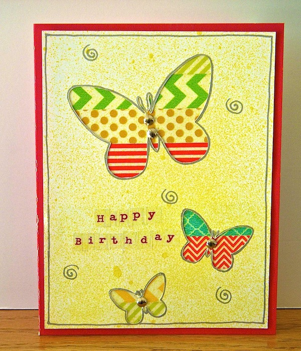 One card sketch 5 themes birthday write click scrapbook valerie used a trendy color combo of navy orange and yellow for her birthday greeting bookmarktalkfo Choice Image