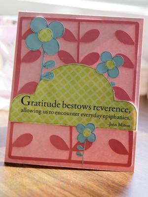 A sorensen gratitude card