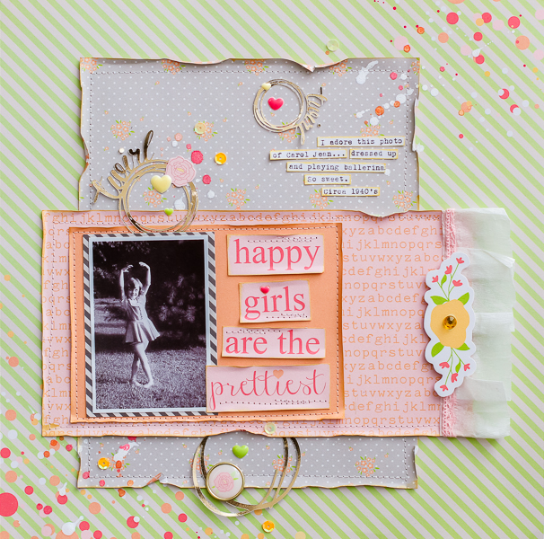 Diane Payne Chickaniddy Twirly Girly Layout